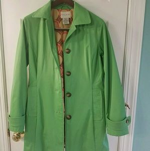 Ladies Green Raincoat